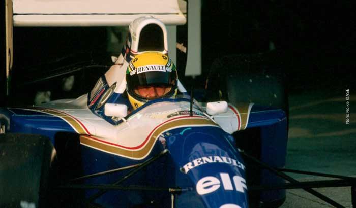 Ayrton Senna in San Marino 1994