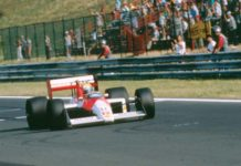 Ayrton Senna at Hungaroring in 1988