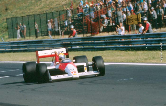Ayrton Senna at Hungaroring in 1988