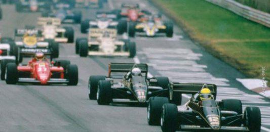 Ayrton Senna at Imola in 1985