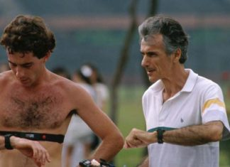 Ayrton Senna and Nuno Cobra