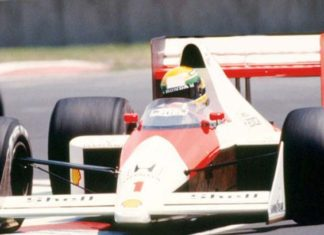Senna in Mexico in 1989