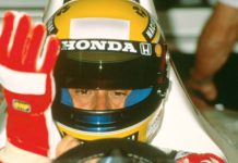 Ayrton Senna in Spain in 1992