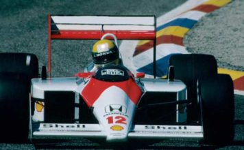 Ayrton Senna in France in 1988