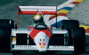 Ayrton Senna in France in 1988