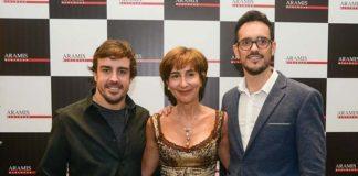 Fernando Alonso and Viviane Senna