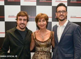 Fernando Alonso and Viviane Senna