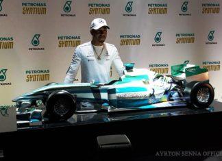 Lewis Hamilton in Brazil