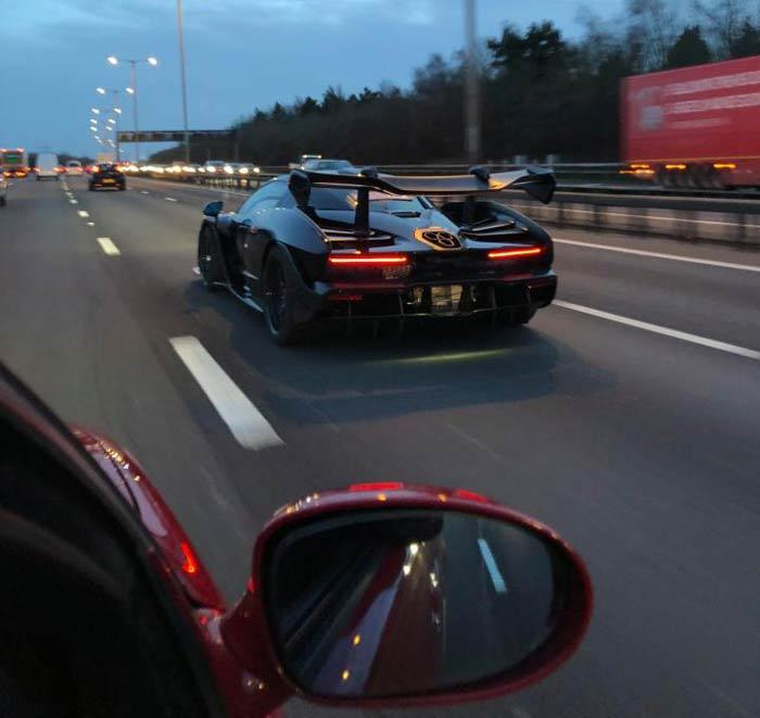 McLaren Senna on the roads in UK