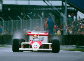 Ayrton Senna at Silverstone