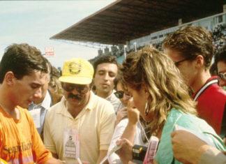 Ayrton Senna in Portugal in 1986