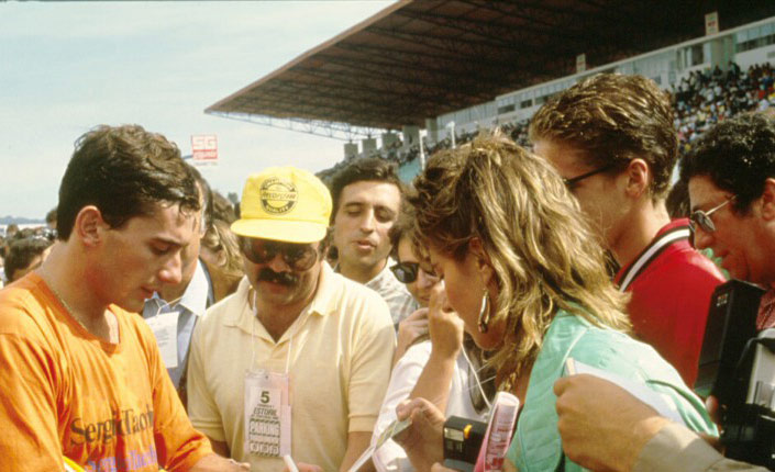 Ayrton Senna in Portugal in 1986