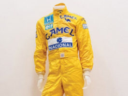 Senna suit on auction
