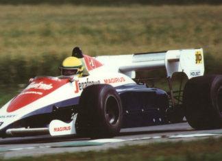 Ayrton Senna in Austria in 1984