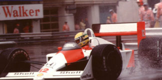 Ayrton Senna at Monaco in 1988