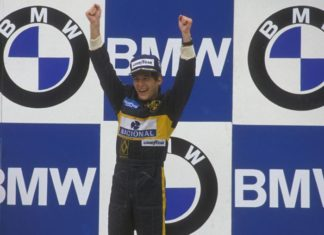 Senna at Estoril Podium 1985