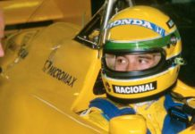 Ayrton Senna in Portugal in 1987