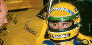 Ayrton Senna in Portugal in 1987
