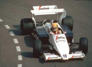 Ayrton Senna in Monaco in 1984
