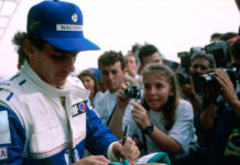 Ayrton Senna at Interlagos in 1994