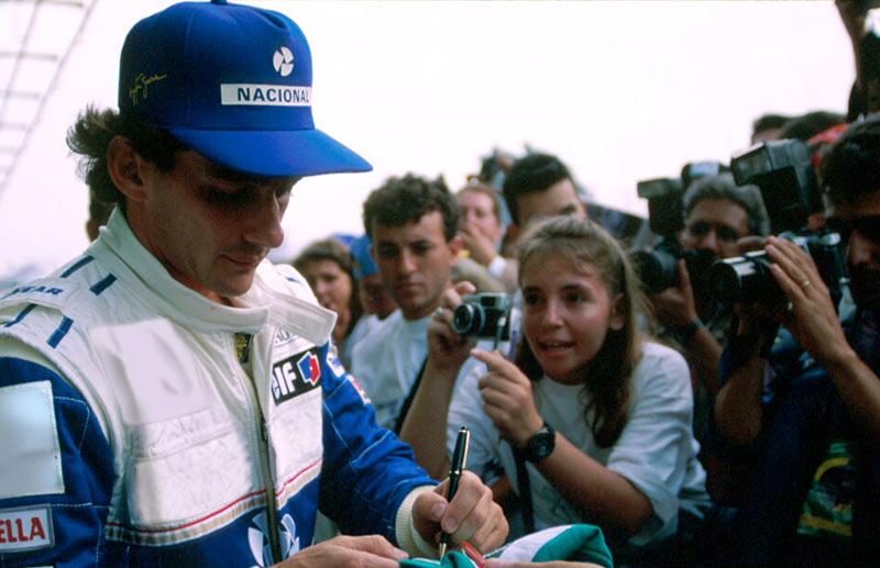 Ayrton Senna at Interlagos in 1994