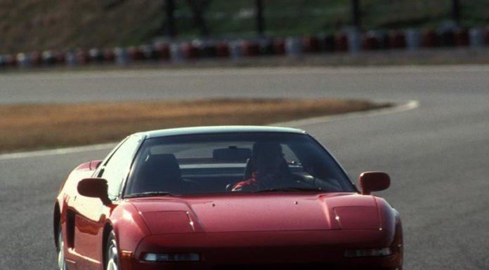Senna testing Honda NSX