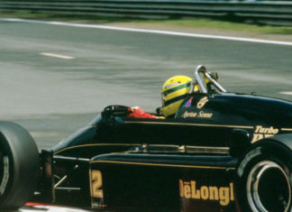 Ayrton Senna at Spa 1986