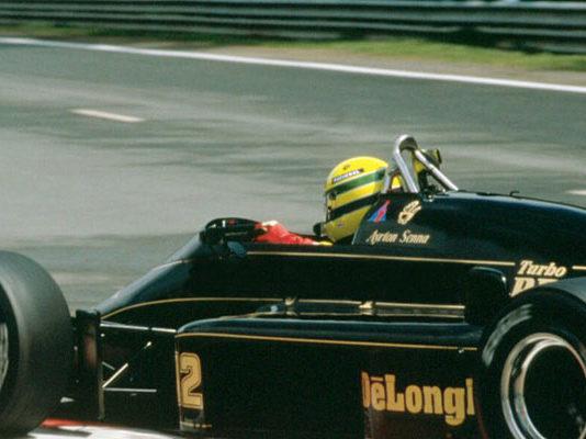 Ayrton Senna at Spa 1986