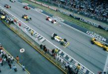 Ayrton Senna at Imola in 1987