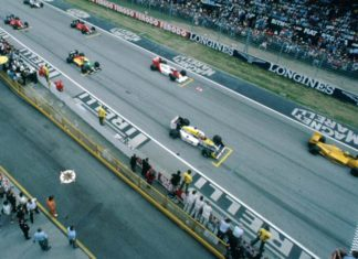 Ayrton Senna at Imola in 1987